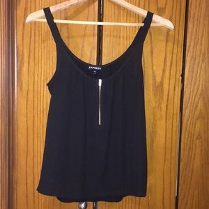 Express black sleeveless top
